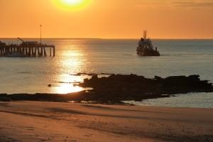 Broome Port Sunrise in Broome, Kimberleys WA